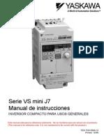 variador yaskawa j7 manual en español