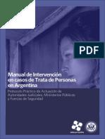Manual de intervención en casos de trata de personas en Argentina