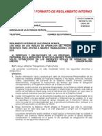 Propuesta de Reglamento Interno 2015