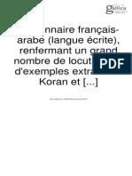 Dico Fr Arabe Avec Locution Extraites Du Coran