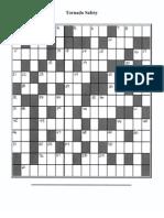 Tornado Safety Crossword Puzzle