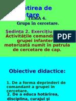 Cercetare Exerciţiu tactic