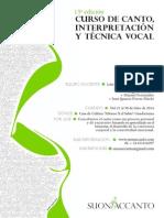 curso de canto
