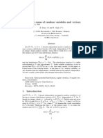 Random sums of random variables and vectors by E. Omey and R. Vesilo