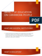Impact of Education on Caribbean People