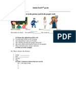 15 Test Initial Engleza clasa 4