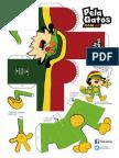 Gato de PelaGatos Paper Toy
