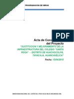 Constitucion Del Proyecto