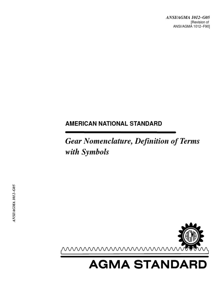 1012 G05 Gear Nomenclature Definition Of Terms Gear Kinematics