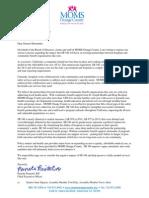 MOMS Orange County SB 346 Letter of Opposition