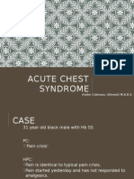 Acute Chest Syndrome of Sickle Cell Disease