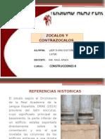 Zocalos y Contrazocalos. DIAPOS