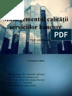 Managementul Calității Serviciilor Bancare