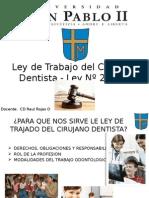 ley de trabajo del cirujano dentista