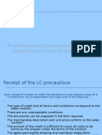 LC Related Export Documents Preparation and Presentation