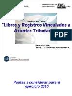 Libros y Registros Vinculado a Asuntos Tributarios