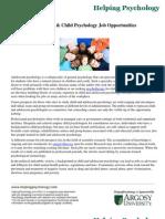 Adolescent & Child Psychology Job Opportunities