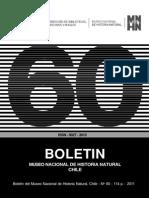 Boletín Museo Nacional de Historia Natural 60