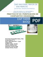 Cristalización Del Acido Acetil Salicilico