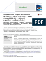 Hospitalisation, Surgical and Medical Recurrence Rates in Inflammatory Bowel Disease 2003–2011—a Danish Population-based Cohort Study