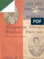 Programa oficial Centenario Chile