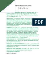 Direito Processual Civil i - Adonias - 2012.2 - 1ª Prova