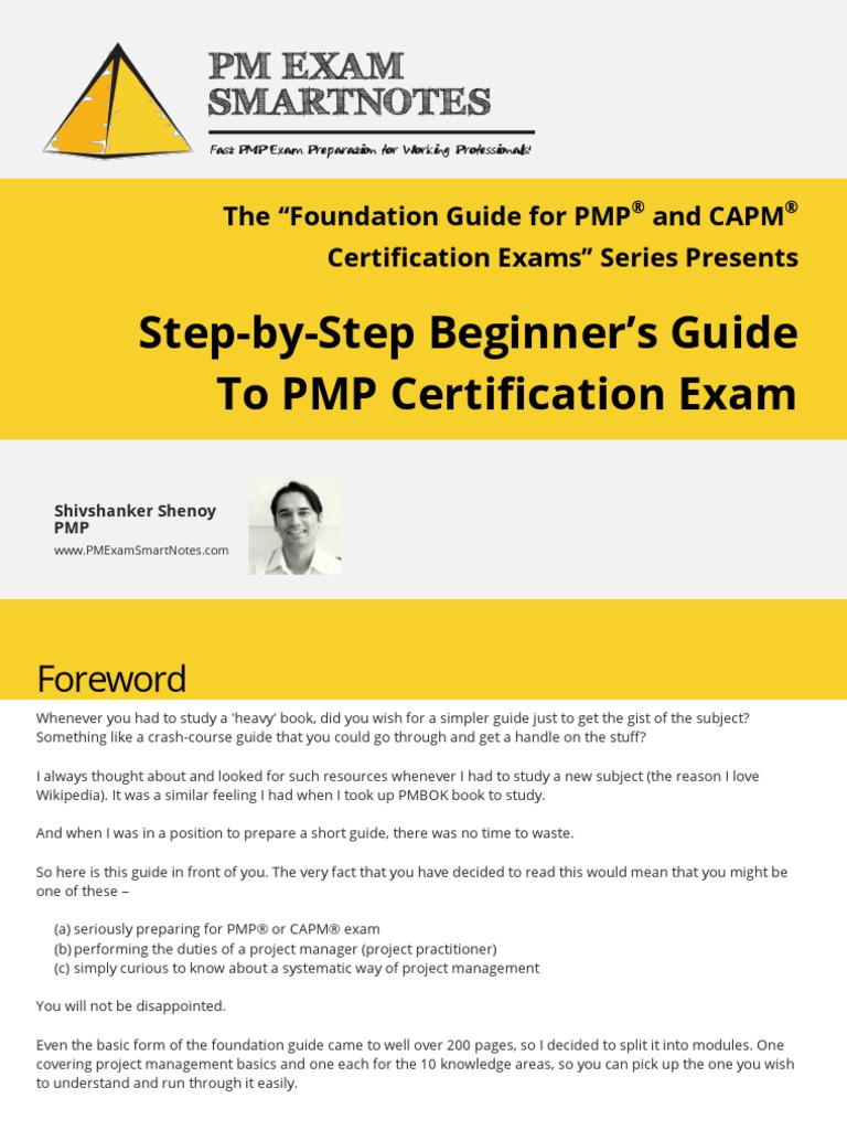 Beginners Guide To Pmp Certification Exam Project Management