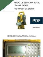 3007_manual Rapido de Et Topcon Gts 240 Nw Bajar Datos