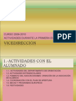 Curso 2009-2010 Actividades Durante La Primera EvaluaciÓn