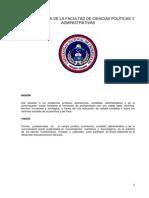 Misión y Visión de La Facultad de Ciencias Políticas y Administrativas