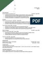 CMC Mba Experienced Resume Example