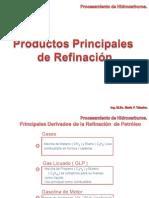 Productos Principales de Refinación