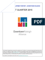 Downtown Raleigh Economic Development Report, Q1, 2015