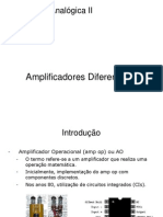 Slides ELAII Capitulo 1 Amplificadores Diferenciais