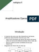 Slides ELAII Capitulo 2 Amplificadores Operacionais