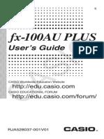 Fx-100AU PLUS en Manual Book