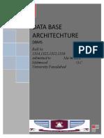 Data Base Architecture