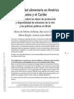(Ineguridad Alimentaria en América Latina y El Caribe Sobre La Base de Datos FAO 2007