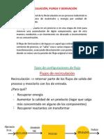 8.4 Recirculación - Purga y Derivación en Balances de Materia