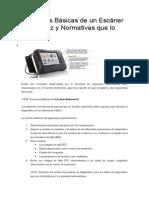 Funciones Básicas de Un Escáner Automotriz y Normativas Que Lo Regulan