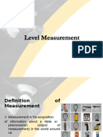Level Measurement - Indirect Sensing