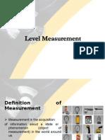 Level Measurement - Indirect Sensing
