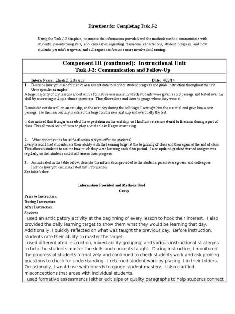 task j-2   Educational Assessment   Pedagogy