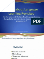 Beliefs about Language Learning Revisited