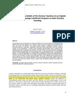 Effects of Learning Beliefs of Pre-service Teachers