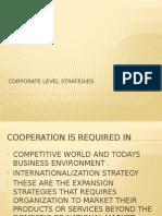 Corpoarte Level Strategies