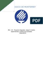 MIII – U5 – Proyecto Integrador, Etapa III Diseño Experimental y Análisis de Resultados