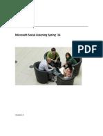 Microsoft Social Listening Users Guide