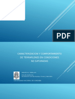 CARACTERIZACION Y COMPORTAMIENTO DE TERRAPLENES EN CONDICIONES NO SATURADAS