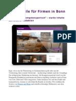 Firmen in Bonn - Vorteile durch Bonnmobi